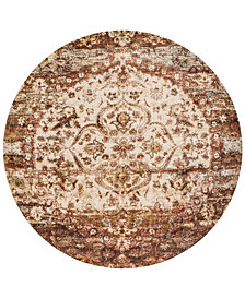 "Macy's Fine Rug Gallery Andreas   AF-06 Rust/Ivory 9'6"" Round Rug"