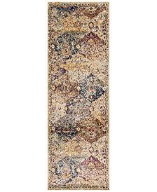 """Macy's Fine Rug Gallery Andreas   AF-12 Ivory/Multi 2'7"""" x 12' Runner Rug"""