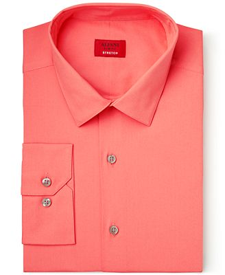 Alfani Slim Fit   Stretch Georgia Peach Dress Shirt, Created for ...