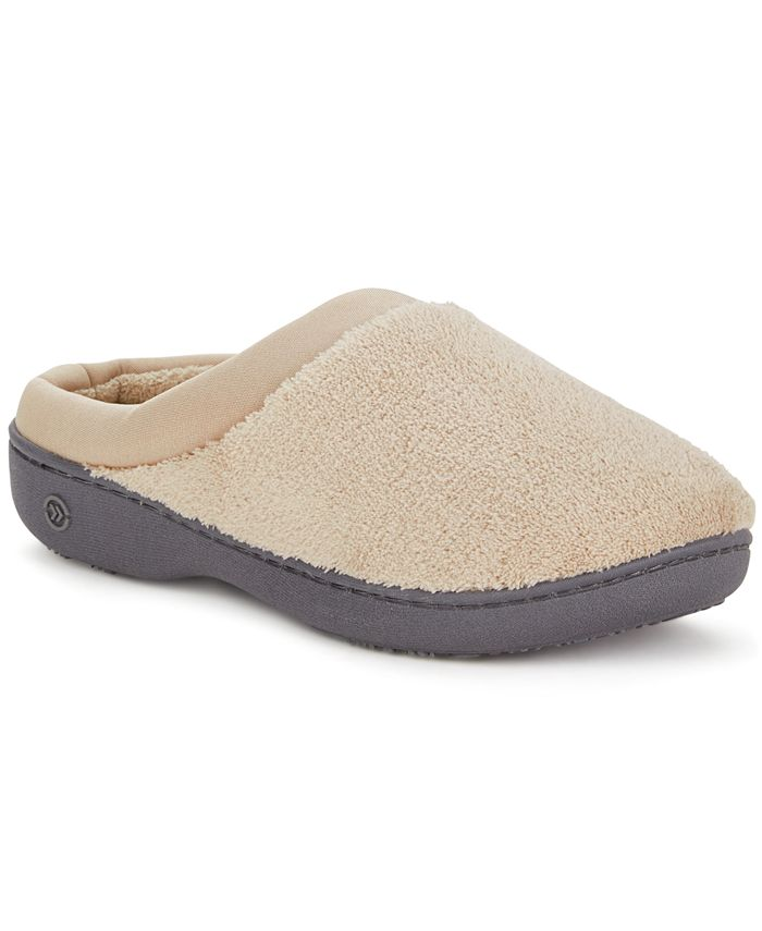 Isotoner Signature - Microterry Pillowstep Slipper with Satin Trim