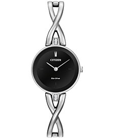 Citizen Women's Eco-Drive Stainless Steel Bangle Bracelet Watch 23mm EX1420-50E