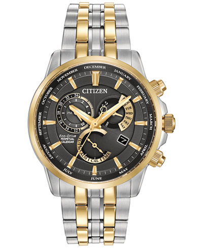 Citizen Men's Eco-Drive Two-Tone Stainless Steel Bracelet Watch 42mm BL8144-54H