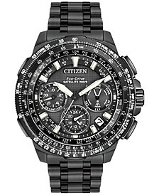 Citizen Men's Chronograph Eco-Drive Black Ion-Plated Titanium Bracelet Watch 47mm CC9025-85E