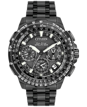 chronograph eco drive ion plated