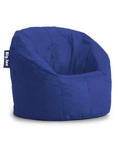 Bea Coasta Faux-Leather Bean Bag Chair, Quick Ship