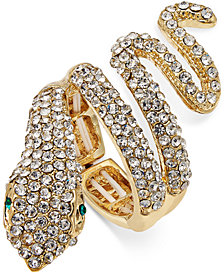 Thalia Sodi Gold-Tone Pavé Drama Ring, Created for Macy's