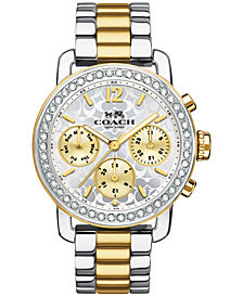 Coach Women's Chronograph Legacy Sport Two-Tone Stainless Steel Bracelet Watch 36MM 14502372