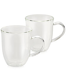 BonJour 2-Pc. Glass Latte Cup Set