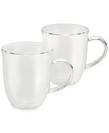 BonJour 2-Pc. Glass Latte Cup Set