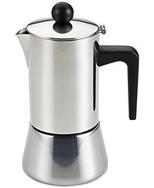 BonJour 4-Cup Stainless Steel Espresso Maker