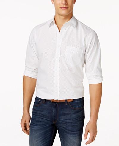 Club Room Dot-Print Long-Sleeve Shirt, Created for Macy's