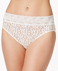 Wacoal Halo Sheer Lace High-Cut Brief 870305