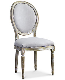 Bordon Round French Accent Chair, Quick Ship