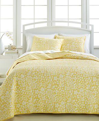 CLOSEOUT! Martha Stewart Collection Georgina Meadow Quilts ... : macys bedding quilts - Adamdwight.com