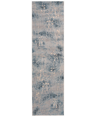 CLOSEOUT! Nourison Somerset Silver/Blue Blossom 2'3
