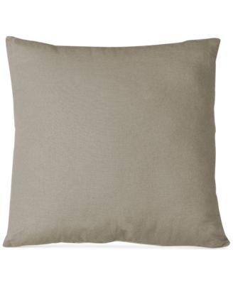 """Essex Knife Edge Linen Blend 18"""" Square Decorative Pillow"""
