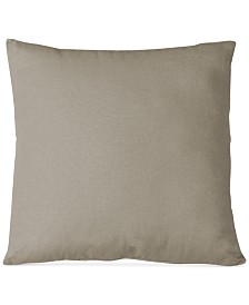 "Elrene Essex Knife Edge Linen Blend 18"" Square Decorative Pillow"