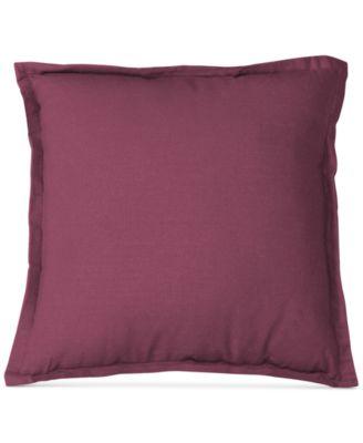 """Essex Flange Linen Blend 18"""" Square Decorative Pillow"""