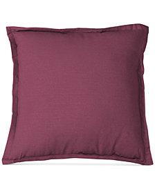 "Elrene Essex Flange Linen Blend 18"" Square Decorative Pillow"