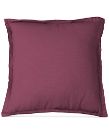 "Elrene Essex Flange Linen Blend 18"" Square Decorative Pillow"
