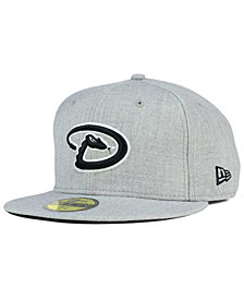 New Era Arizona Diamondbacks Heather Black White 59FIFTY Fitted Cap