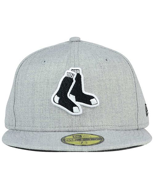 cheap for discount 2bcd1 4cf67 ... New Era Boston Red Sox Heather Black White 59FIFTY Fitted Cap ...
