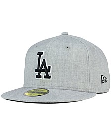 Los Angeles Dodgers Heather Black White 59FIFTY Fitted Cap