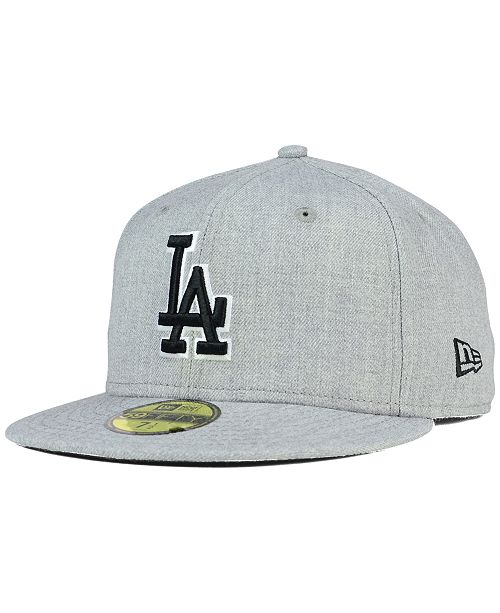 3e05e2324cacfa ... New Era Los Angeles Dodgers Heather Black White 59FIFTY Fitted Cap ...