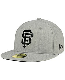San Francisco Giants Heather Black White 59FIFTY Fitted Cap