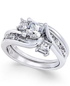 Diamond Interlocking Bridal Set (1-1/2 ct. t.w.) in 14k White Gold