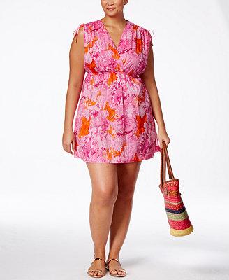Lauren Ralph Lauren Plus Size Printed Farrah Cover Up