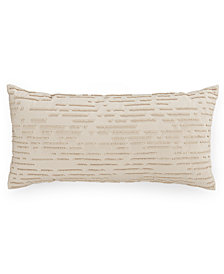 """CLOSEOUT! Hotel Collection Modern Eyelet Beaded 10"""" x 20"""" Decorative Pillow, Created for Macy's"""