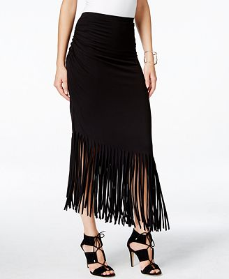 inc international concepts fringe maxi skirt only at macy
