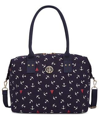 tommy hilfiger ali canvas weekender handbags accessories macy 39 s. Black Bedroom Furniture Sets. Home Design Ideas