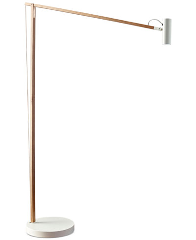 Adesso Crane LED Spotlight Swing Arm Floor Lamp