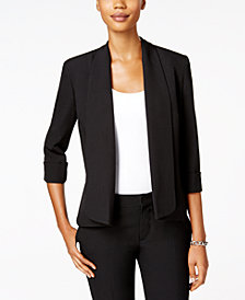 Kasper Open Cuffed-Sleeve Soft Jacket