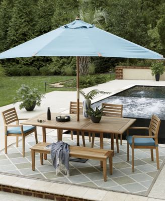 Anders Teak Outdoor Dining Collection, Created For Macyu0027s