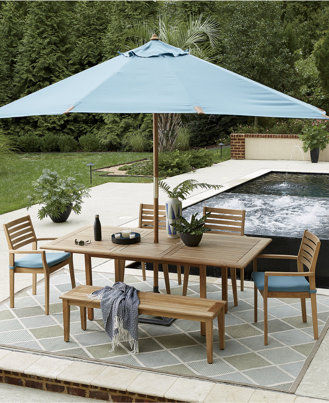 12 Seat Outdoor Dining Table Outdoor And Patio Furniture Macys