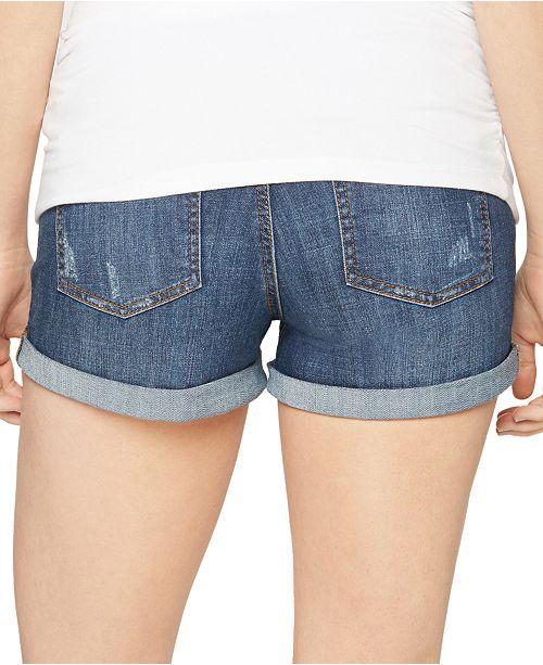 c4e8e810f9c62 Luxe Essentials Cuffed Denim Maternity Shorts & Reviews - Maternity ...