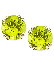 14k Gold Peridot Stud Earrings (4 ct. t.w.)