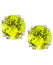 14k Gold Peridot Stud Earrings (4 ct. t.w.)