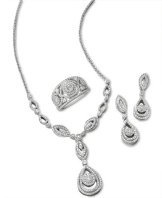 Wrapped in Love™ Diamond Dangling Drop Earrings in 14k White Gold (1 ct. t.w.), Created for