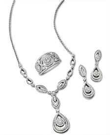 Diamond Teardrop-Inspired Jewelry in 14k White Gold, Created for Macy's