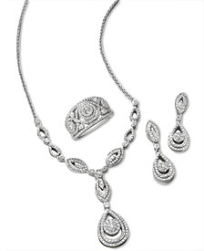 Wrapped in Love Diamond Teardrop-Inspired Jewelry in 14k White Gold, Created for Macy's