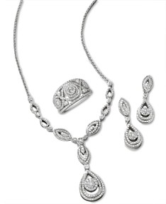e31f7cbe5 Wrapped in Love Diamond Teardrop-Inspired Jewelry in 14k White Gold,  Created for Macy's