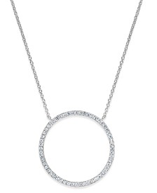 I.N.C. Pavé Open Circle Pendant Necklace, Created for Macy's