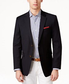 Tommy Hilfiger Modern-Fit TH Flex Solid Navy Blazer