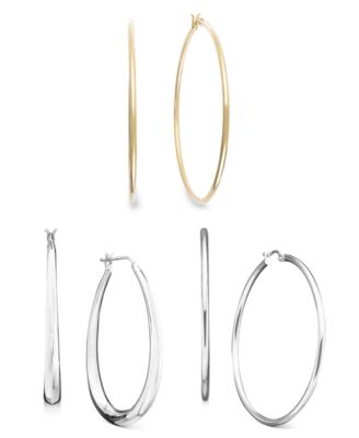 Sterling Silver Small Hoops, 5/8