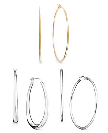 Giani Bernini Classic Hoop Earring Collection, Created for Macy's