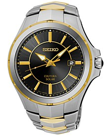 Men's Solar Coutura Two-Tone Stainless Steel Bracelet Watch 43mm SNE412